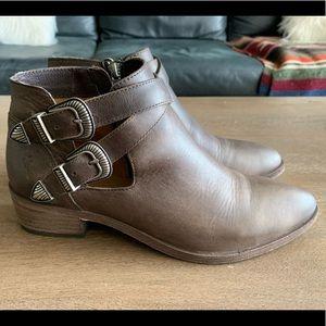 Frye Women's Leather Western Booties 7.5